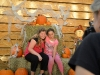 Lexis Hohenstein, left, with Sarah Baugher, both 5th graders at Bunnell Elementary, getting their fall photo by Jane Sbordone.