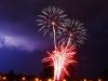 Fireworks Meet Lightning at Town Center