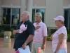 Palm Coast Mayor Jon Netts, left, Tony Papandrea, and Priscilla Netts, a cancer survivor.
