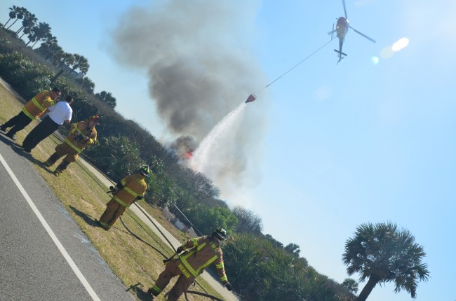 Fire Flight in action this afternoon.
