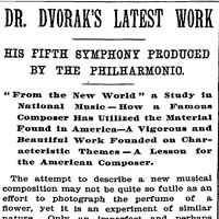 dvorak symphony from the new world