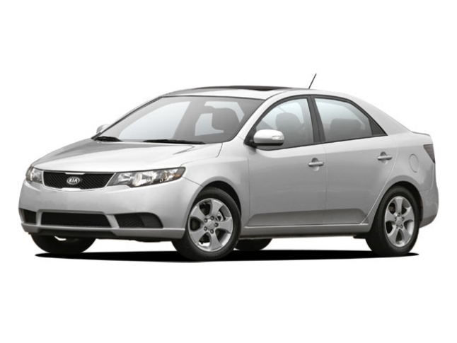 The Kia Forte is similar to the one pictured above, but would have heavy front-end damage.
