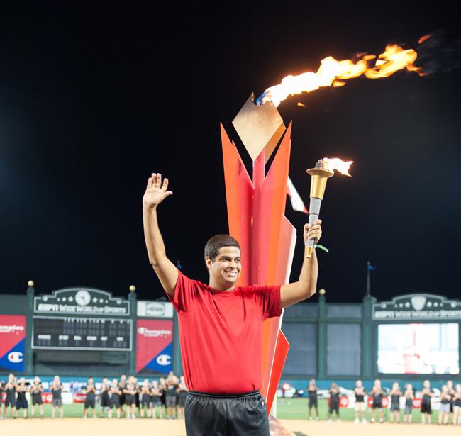 A memorable moment from the 2013 Florida Special Olympics.