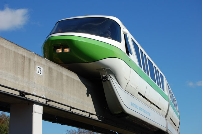 Disney World's  Green Monorail