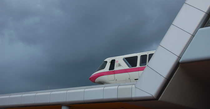 Storm Clouds Over Disney's Monorail (© FlaglerLive)