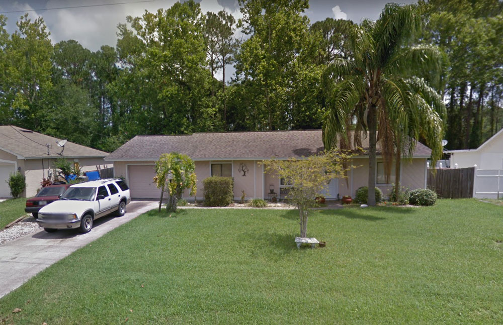 The house at 39 Belleaire Drive in Palm Coast. (Google)
