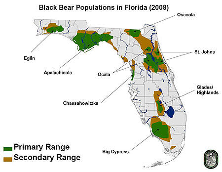 bear distribution map florida