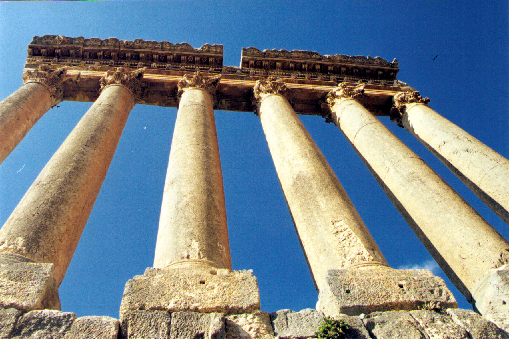 Jupiter's six remaining columns. (© Pierre Tristam/FlaglerLive)