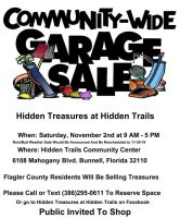 community garage sale hiddeen trails