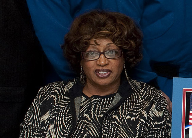 Corrine Brown in a 2010 photo at NASA. (NASA)