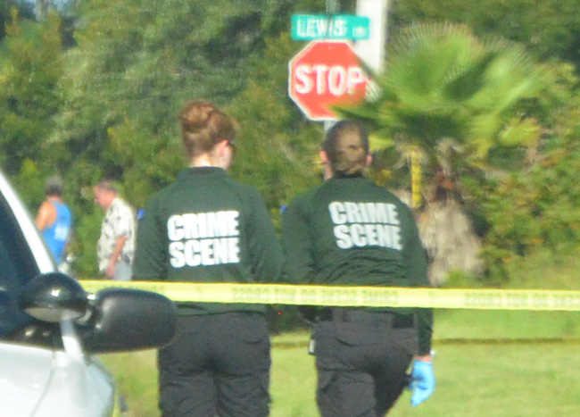 The crime scene investigators. (c FlaglerLive)
