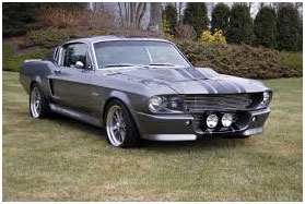 Doyle's-silver-mustang