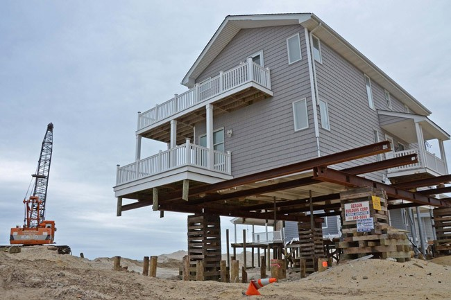 So-called freeboard elevation, above, is the required elevation above flood-plain level, which flagler beach has raised to a total of 8 feet for new construction. Builders are opposed to the new ordinance as it applies to new construction and substantial additions. (floodlist.com)