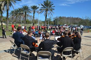 A Flagler Youth Orchestra ensemble performed. (© FlaglerLive)