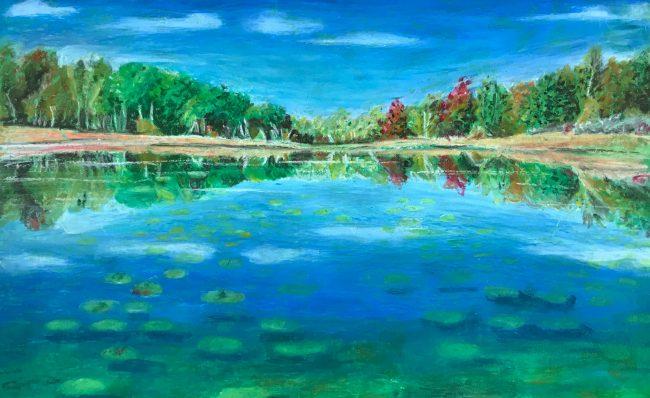 """Fall Reflections"" by Alana Portas won the Pastel category."