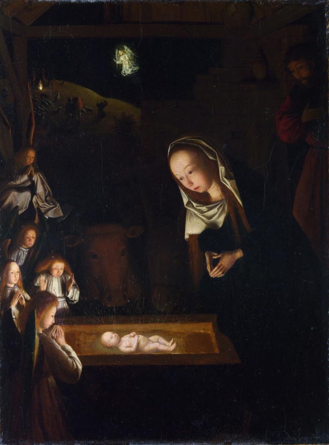 Geertgen Tot Sin Jans, 'Nativity' (1490), at the National Gallery in London.