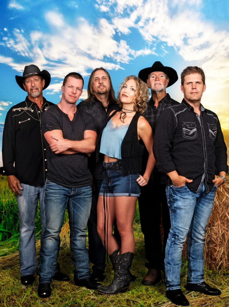The country band Hayfire is fronted by singer-guitarist Brooks Vaughan, far right. (Pete Michaels)