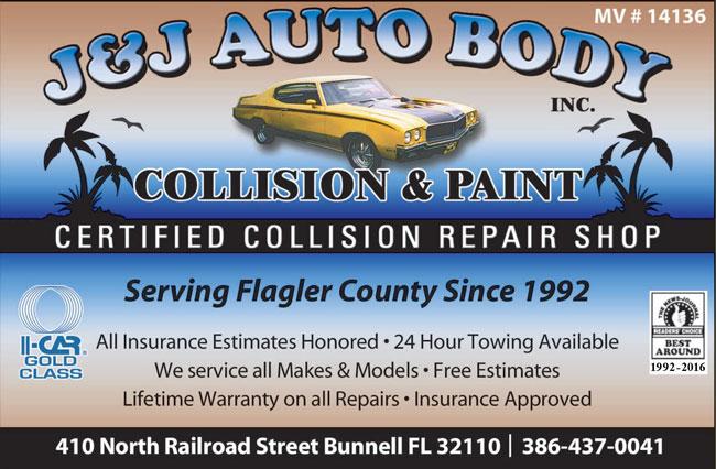 J J Auto Body Collision Repair Paint Palm Coast Bunnell 386 437 0041