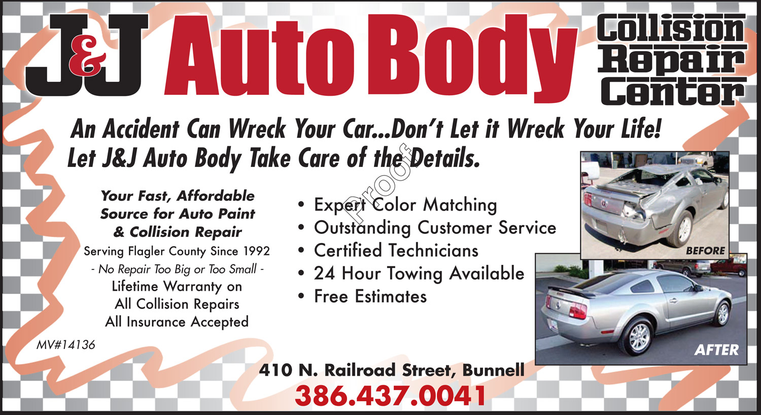 Auto body shop paint repairs bunnell