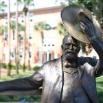 Sculptor Erik Blome created the iconic bronze Stetson sculpture. (Stetson University)