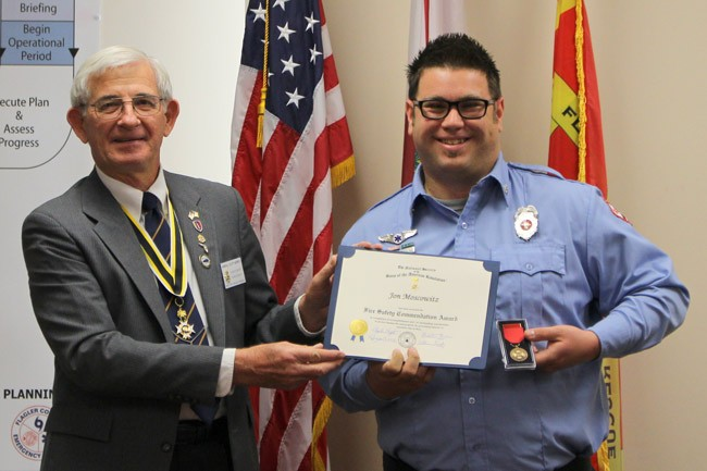 Jon Moscowitz firefighter of the year.