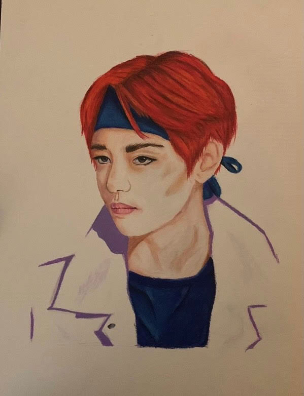 """""""K POP"""" by Elle Marin won the Colored Pencil category."""