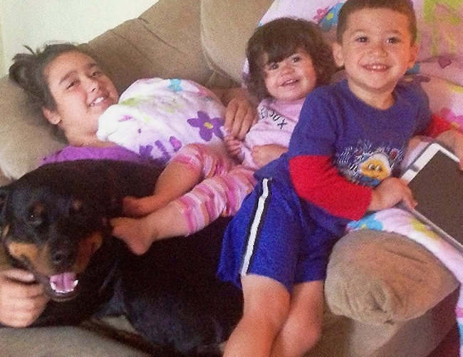 Kayenne and her family: Amaya MacDonald, 11, Annabelle MacDonald, 2, and Christian MacDonald, 4.