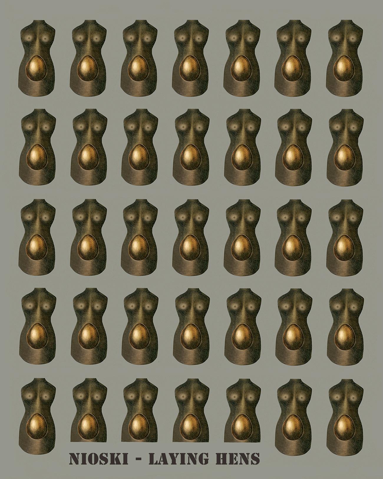 'Nioski – Laying Hens,' by Palm Coast artist Krystyna Spisak-Madejczyk. (Krystyna Spisak-Madejczyk)