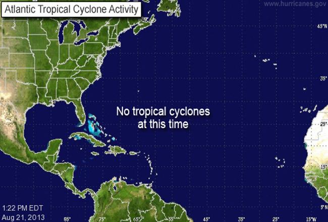 A familiar image at NOAA's National Hurricane Center this season.