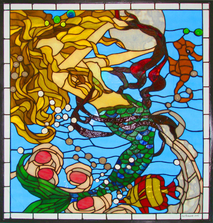 "Lee Richards's ""Oceanna."" (Image from leerichardsstainedglass.com"