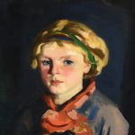 "Detail from Robert Henri's ""Kathleen,""1924, oil on board. Huntington Museum of Art (John Spurlock)"