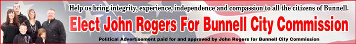 elect john rogers bunnell city commission
