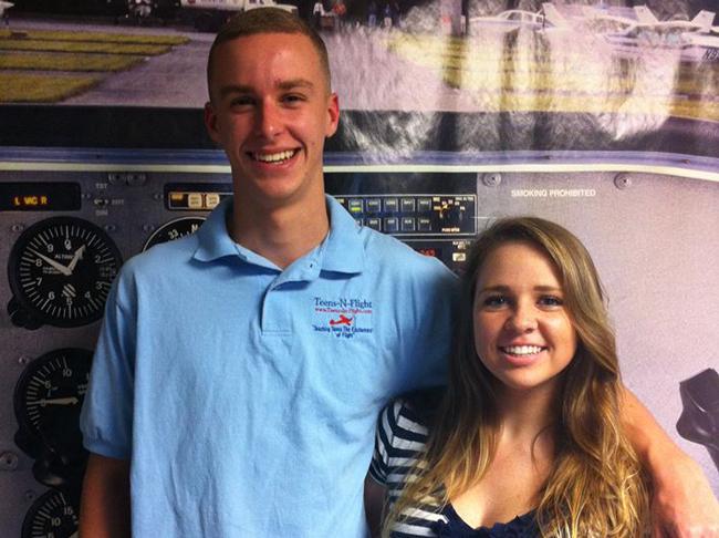 Ryan Peeling and Cora Rand. (Teens-in-Flight)