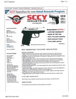 Click on the image for a pdf of the SCCY gun's specs.