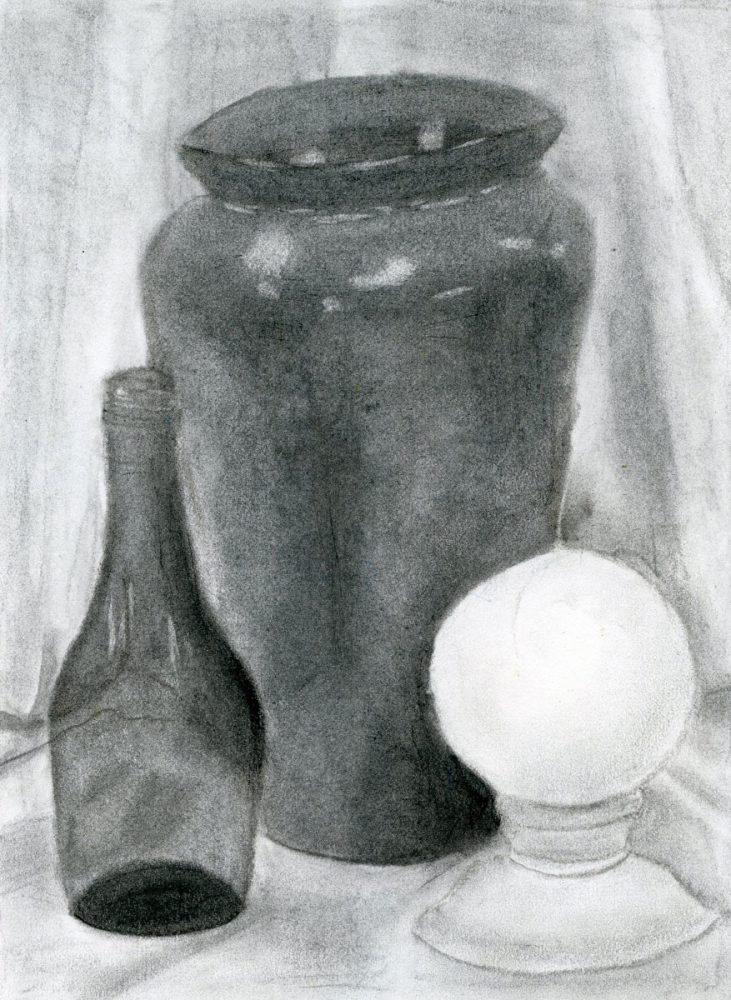 """""""Still Life"""" by Rebecca Knotts won the Drawing category."""