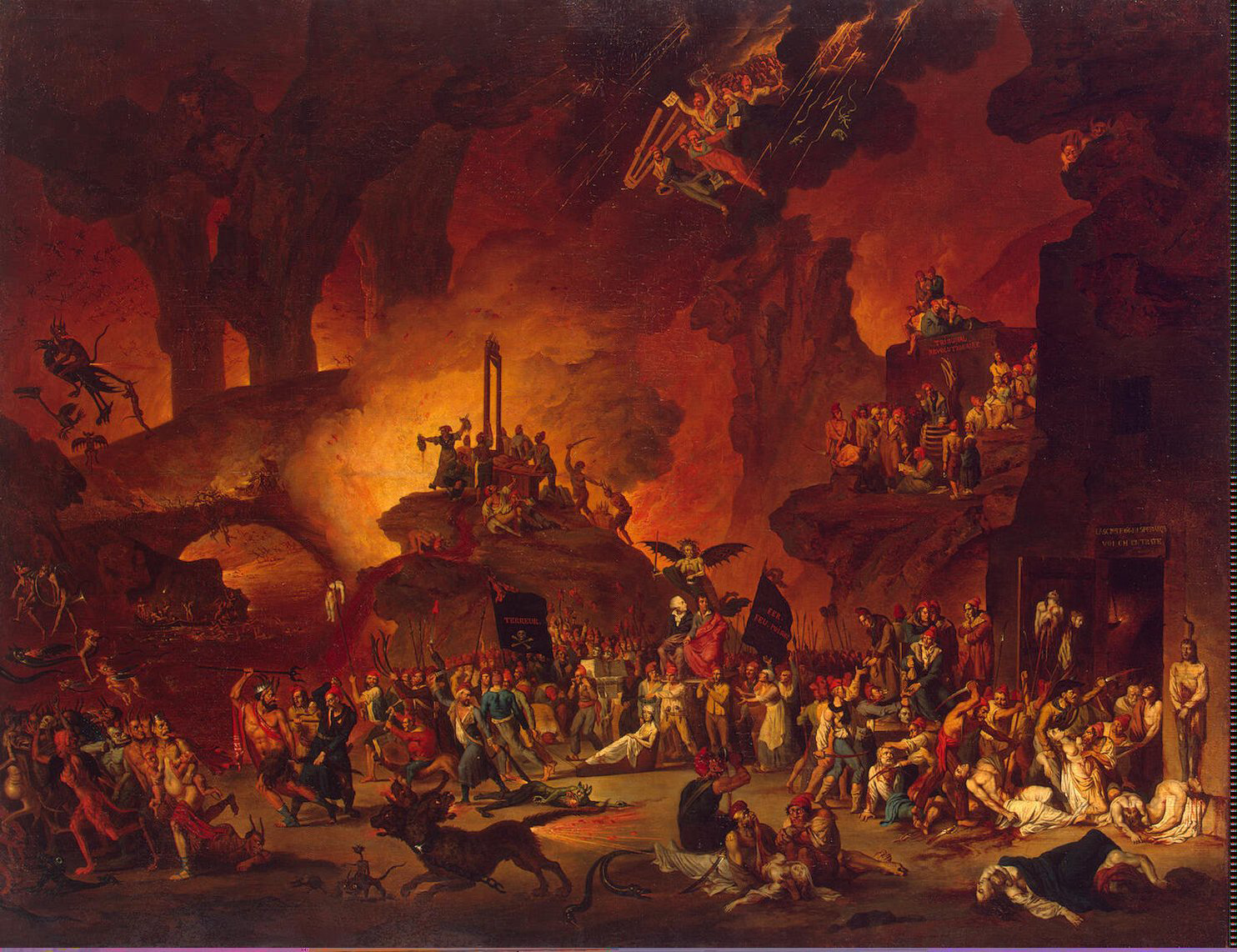 'The Triumph of the Guillotine in Hell' by Nicolas-Antoine Taunay (1795)