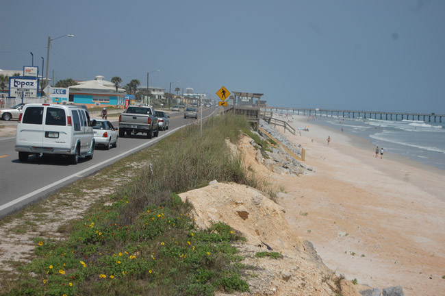 The collision took place at State Road A1A near South 12th Street in Flagler Beach. (© FlaglerLive)