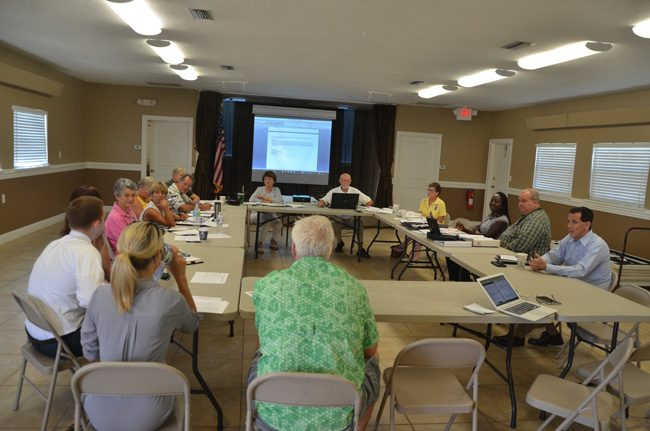 This morning's meeting of the Scenic A1A Pride Committee at the Hammock Community Center did not resolve a concern among Hammock advocates that a land-use change may significantly affect the character of State Road A1A. (c FlaglerLive)
