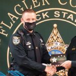April Employee of the Month Deputy Adam Gossett with Sheriff Rick Staly. (FCSO)