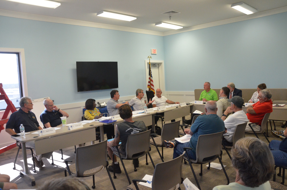 Today's meeting of the Flagler County Airport Advisory Board. (© FlaglerLive)