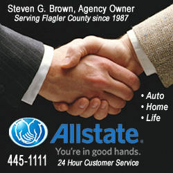 steven brown allstate insurance palm coast flagler beach flagler county