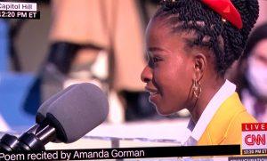 Amanda Gorman. Click on the image for larger view. (© FlaglerLive via CNN)