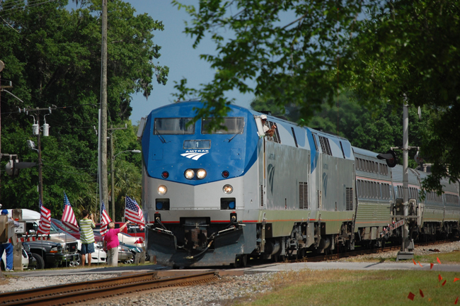 amtrak train in bunnell