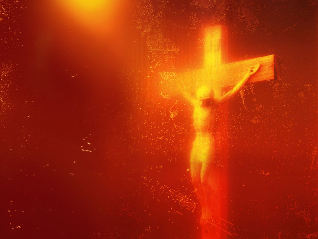 The various uses of Jesus Christ, in art or in academia, have on occasion triggered controversies, as when the artist Andres Serrano won the 1987 Southern Center for Contemporary Art's visual arts competition with a photograph he entitled 'Piss Christ,' showing the crucifix submerged, allegedly, in Serrano's urine. The photograph did not cause a controversy for two years, until it was remarked upon by then-Sen. Jesse Helms, the North Carolina Republican, who used it in his campaign to abolish the National Endowment for the Arts, which had given Serrano a $5,000 grant in 1986. The photograph was last on display last fall at  at the Edward Tyler Nahem gallery in New York.