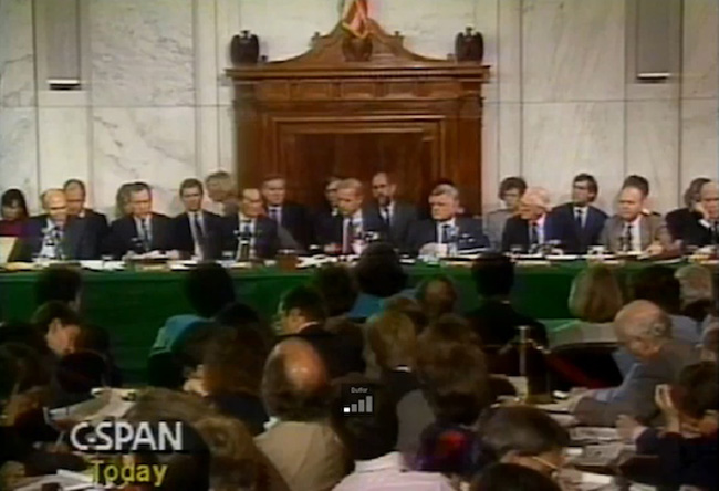 When men embarrass civilization: the Clarence Thomas-Anita Hill hearings of 1991 by the 14 men of the Senate Judiciary Committee.