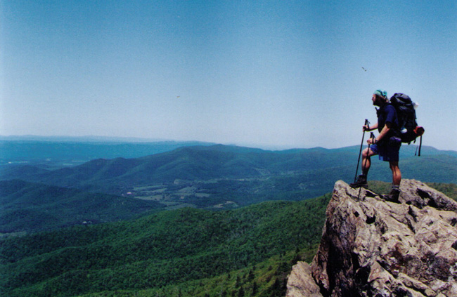 thru-hiker sheltowee appalachian trail