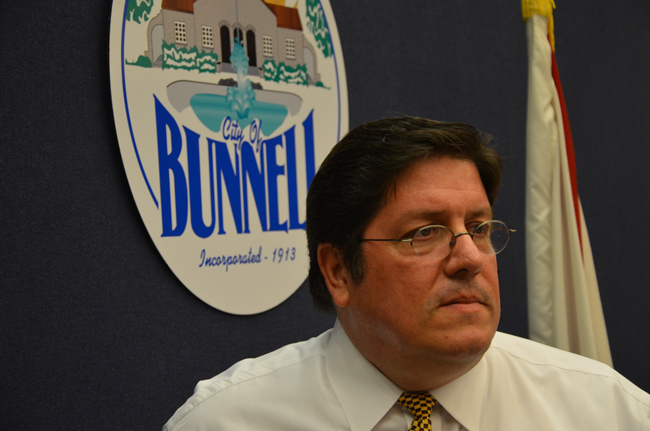 Bunnell's Armando Martinez is looking elsewhere. (© FlaglerLive)