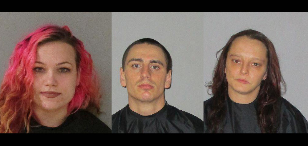 From left, Tessa Lilly, Gage Watts and Jessica McBryde.