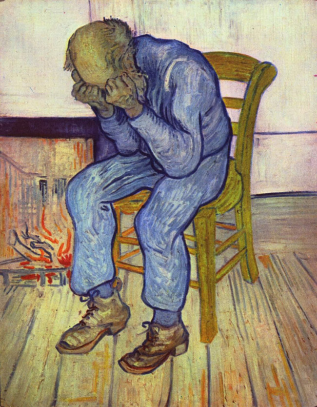 'Committed' playwright Tricia Brouck illustrated a list of major depressive disorders, many of which saddle her characters in the musical, with Van Gogh's 1890 painting, 'At Eternity's Gate.'