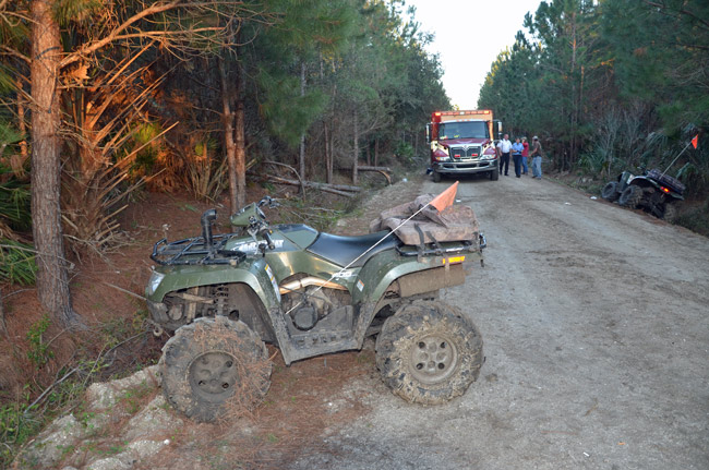 The victim's ATV, where it stood after the accident. (© FlaglerLive)